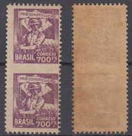 Brazil Brasil Mi# 382 ** MNH Center Imperforated Pair 700R Revolucao 1932 - Brazilië
