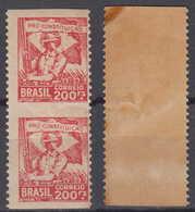 Brazil Brasil Mi# 377 ** MNH Top + Bottom Imperforated Pair 200R Revolucao 1932 - Brazilië