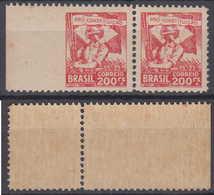 Brazil Brasil Mi# 377 ** MNH Left Imperforated Pair 200R Revolucao 1932 - Brazilië