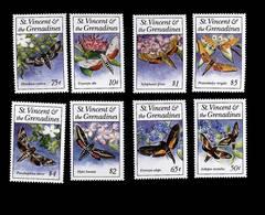 St. Vincent& The Grenadines 1993 Butterflies Moth Scott# 1856-1863 - St.Vincent E Grenadine