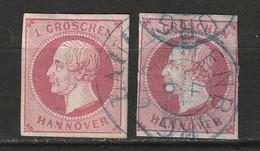 Hanovre N° 17 Oblitération Nienburg - Hanover