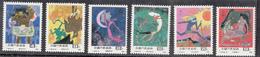 P R CHINA,  1987,  Folktales, Fairytales, Folk Tales, Fairy Tales Of Ancient China,  Set 6  V,   MNH, (**) - 1949 - ... République Populaire