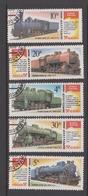 Russia Scott 5500-04 1986 Locomotives, Used - Trains