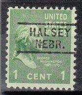 USA Precancel Vorausentwertung Preo, Locals Nebraska, Halsey 729 - Vereinigte Staaten