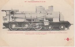20 / 1 / 265. -  LOCOMOTIVE  - P  L. M.  ( Voir Dos De La Carte ) - Trains