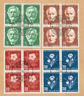 PRO/J. SERIE 4xBLOCS DE 4 OBLITERES 1945 C/.S.B.K Nr:J113/J116. Y&TELLIER Nr:423/426. MICHEL Nr:465/468. - Pro Juventute