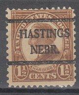 USA Precancel Vorausentwertung Preo, Bureau Nebraska, Hastings 633-42, Stamp Thin - Vereinigte Staaten