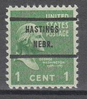USA Precancel Vorausentwertung Preo, Bureau Nebraska, Hastings 804-71 - Vereinigte Staaten