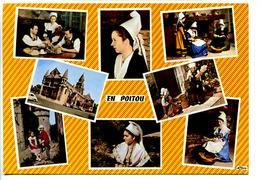 CPSM 10.5 X 15  Charente  En POITOU  Scènes Et Costumes Folkloriques - Poitou-Charentes