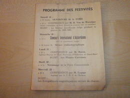 Ancien Programme 1950 FOIRE COMMERCIALE INDUSTRIELLE ET FLORALE DE LA BASSE-SAMBRE  (TAMINES) - Programme