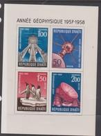 Haiti Sc 424-7,C119-21 1958 International Geophysical Year,imperforated Miniature Sheet,mint Hinged - Haiti