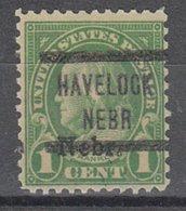 USA Precancel Vorausentwertung Preo, Locals Nebraska, Havelock 659-577, Nebr. Overprint - Vereinigte Staaten