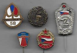 Tchécoslovaquie - 5 Médaillettes Thème Sport - Sport