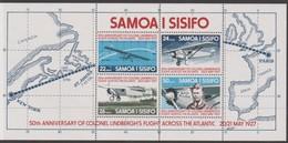 Samoa SG MS 487 1977 Lindbergh Miniature Sheet,mint Never Hinged - Samoa