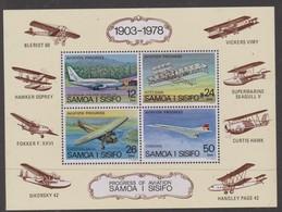 Samoa SG MS 505 1978 Aviation Miniature Sheet,mint Never Hinged - Samoa