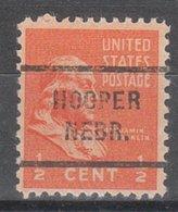 USA Precancel Vorausentwertung Preo, Locals Nebraska, Hooper 712 - Vereinigte Staaten