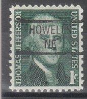 USA Precancel Vorausentwertung Preo, Locals Nebraska, Howells 841 - Vereinigte Staaten