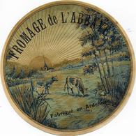 ETIQUETTE   DE FROMAGE DE L'ABBAYE  NEUVE A LA CLOCHE D'OR NORD EST SIGNY L'ABBAYE ARDENNES - Cheese