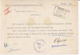 WW2 WAFFEN SS 29^WAFFEN GRENADIER DIVISION Der SS PIONIER KOMPANIE FELDPOST SS-HUSTF.LOCHMULLER - Documenten