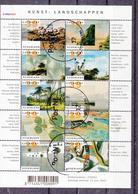 Nederland 2002 Nvph Nr 2089 - 2098, Mi Nr 2013 - 2022:  Kunst, Landschappen, Stempel Nieuwegein Nr 12 - Periodo 1980 - ... (Beatrix)
