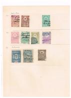 Ottoman Lot Revenue Fiscaux Fiscal  Old Collection Ancienne Collection - 1858-1921 Ottoman Empire