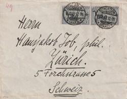 Deutsches Reich / 1922 / Mi. 196 MeF Auf Brief Ex Schladen In Die Schweiz (5406) - Deutschland