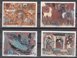 P R CHINA,  1987,   Dunhuang Cave Murals, Painting, Paintings, Frescoes Set 4 V,  MNH, (**) - 1949 - ... République Populaire