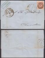 Danemark - Lettre Yv 13 De Kjobenhaon 02/12/1866 Vers Randens  (RD77)DC5580 - 1864-04 (Christian IX)