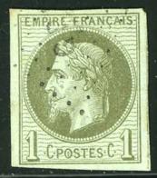 COLONIES GENERALES N°7 1c Olive Obl Losange GPE Cote 350 Euros, - Napoléon III
