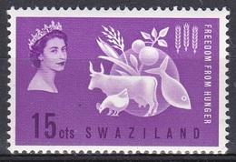Swasiland Swaziland 1963 Organisationen UNO ONU FAO Ernährung Nutrition Hunger Rinder Cattle Crops, Mi. 108 ** - Swaziland (1968-...)