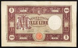 1000 Lire Grande M Testina B.I.22 07 1946 Bel Q.BB Naturale Strappetto In Alto E Firma LOTTO 3114 - [ 2] 1946-… : République