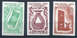 COMORES  - N° 29 A 31 , ESSAIS DE COULEUR GOMMÉS , NON DENTELÉS - * * - LUXE - Unused Stamps