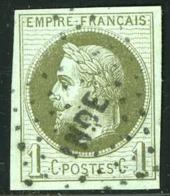 COLONIES GENERALES N°7 1c Olive Obl Losange INDE Cote 200 Euros, Aminci Angle Droit Très Bel Aspect - Napoléon III