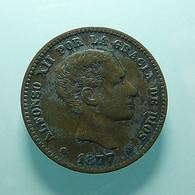 Spain 5 Centimos 1877 - [ 1] …-1931 : Koninkrijk