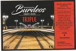 Etiquette (label) De Biere Française  ( Beer, Cerveza, Birra, Bier); Micro-Brasserie BURDEOS 33 - Bier