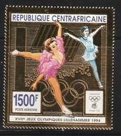 CENTRAFRIQUE - PA N°413 ** (1993) Jeux Olympiques De Lillehammer 1994 - Patinage Artistique. - Hiver 1994: Lillehammer