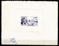 COMORES  - PA N° 2 EPREUVE D'ETAT, SIGNÉ DU GRAVEUR J. PHEULPIN - LUXE - Comoro Islands (1950-1975)