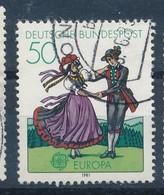 BRD Mi. 1096 Gest. Europa Tant Tracht Schwarzwald - Tanz