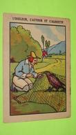 """Image Récompense D'école - FABLE DE LA FONTAINE - L'Oiseleur L'Autour Alouette - RIVOIRE & JEANDET - TARARE """"état"""" / 110 - Documentos Antiguos"""