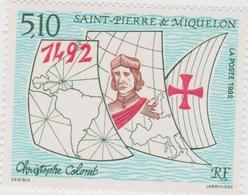 SAINT PIERRE ET MIQUELON 1 T Neuf Xx 569 - 500ans Découverte Amérique Christophe Colomb - St.Pedro Y Miquelon