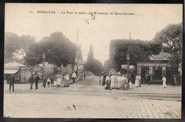 BOUGIVAL 78 - Le Pont Et Station Des Tramways De Saint Germain - Bougival