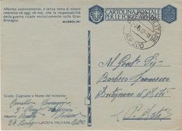 MILITARI -C - CARTOLINA POSTALE PER LE FORZE ARMATE - POSTA MILITARE N°200 - 1900-44 Vittorio Emanuele III