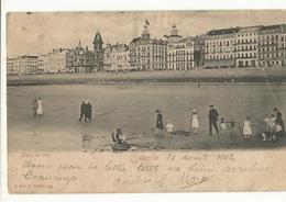CPA, Précurseur ,Belgique  Ostende, Digue De Mer ,animée, Ed. R. & J.D. 1902 ,Dos Simple - Oostende