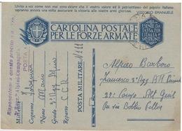 MILITARI -C - CARTOLINA POSTALE PER LE FORZE ARMATE - POSTA MILITARE N°111 - Poste Militaire (PM)