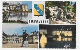 (RECTO / VERSO) LUNEVILLE - MULTIVUES DU CHATEAU - FORMAT CPA VOYAGEE - Luneville