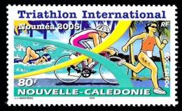 NOUV.-CALEDONIE 2005 - Yv. 940 ** Faciale= 0,67 EUR - Sport. Triathlon: Natation, Cyclisme, Course à Pied ..Réf.NCE25572 - New Caledonia
