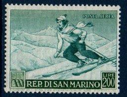 """STM  1953 """"Sports D'Hiver""""  Poste Aérienne   N° YT PA100 ** MNH - Poste Aérienne"""