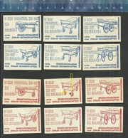 BRANCARDWAGENS VOOR ZWAAR GEHANDICAPTEN ( DE KLOOF Dutch Matchbox Labels ) INVALIDE ROLWAGENS - Boites D'allumettes - Etiquettes