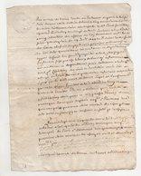 Tours  Vouvray 1758 - Manuscripts