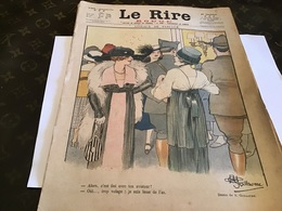 Journal Le Rire Journal Humoristique 1918 Dessin  DeGuillaume  Oiseaux De Passage - Journaux - Quotidiens